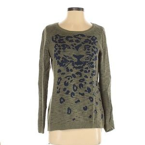 HIVE & HONEY Leopard Pullover Sweater Size Small